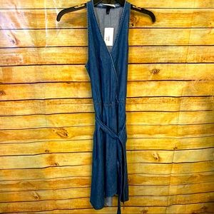Universal thread new denim wrap dress